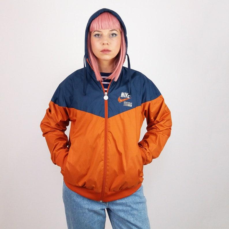 2a4c776455 Vintage 90 s Unisex Track Jacket Orange and Blue