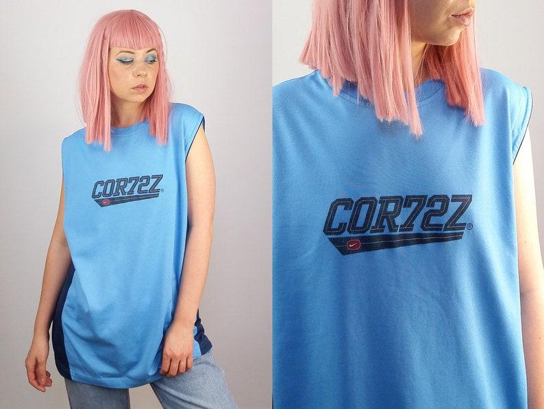 bf0716ce NIKE CORTEZ Vintage 90's Basketball T-shirt / Tank top / | Etsy