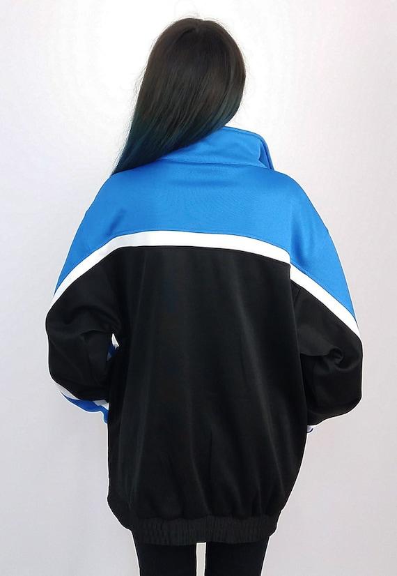 Unisex FILA Track Jacket Vintage 90's Black Blue FILA RqEatw