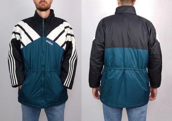 Oversized Winter Jacket ADIDAS ADIDAS Vintage 90's Coat Unisex Inxggq8wTF