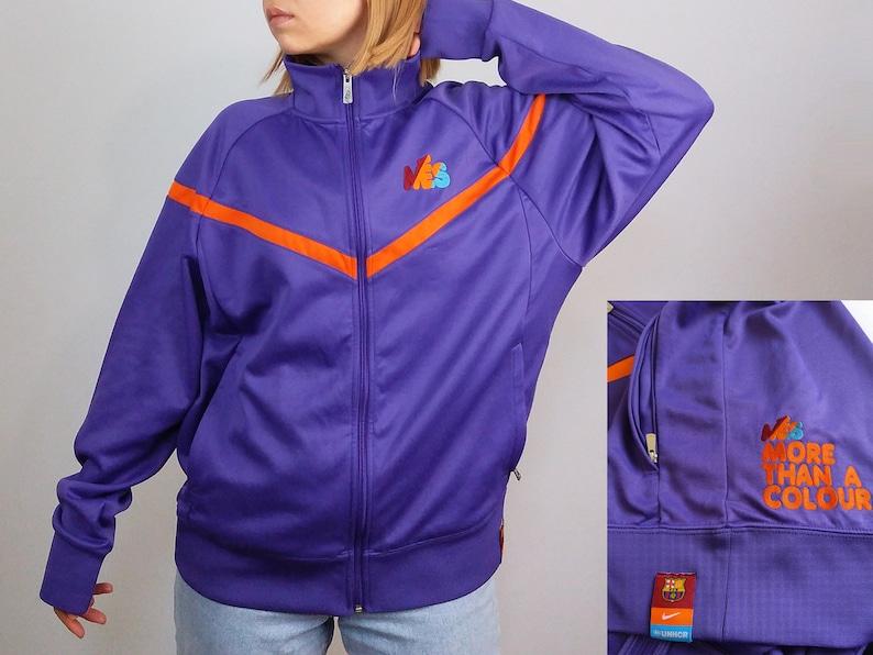 44890a6aa3 NIKE Vintage 90 s MES FC Barcelona Track Jacket Limited