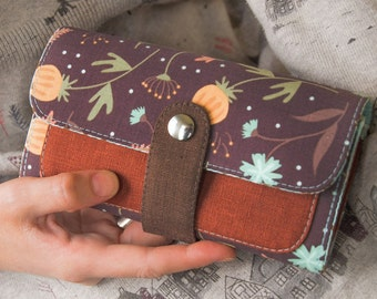 Women's Wallet, Vegan Wallet, Gift For Mom, Wallet For Women, Vegan Gift, Fabric Wallet, Womens Gift, Gift For Women, Purse, Bithday Gift