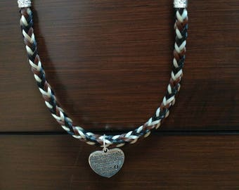 "Custom ""Tiger"" Horse Hair Necklace"