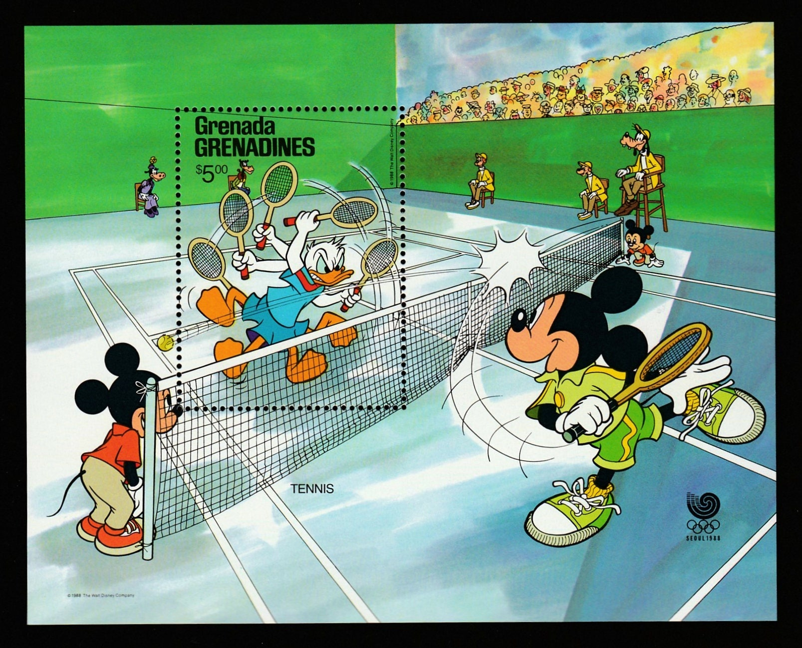 Disney-Olympics-Postage Stamp Sheet-Mickey Mouse and Donald | Etsy