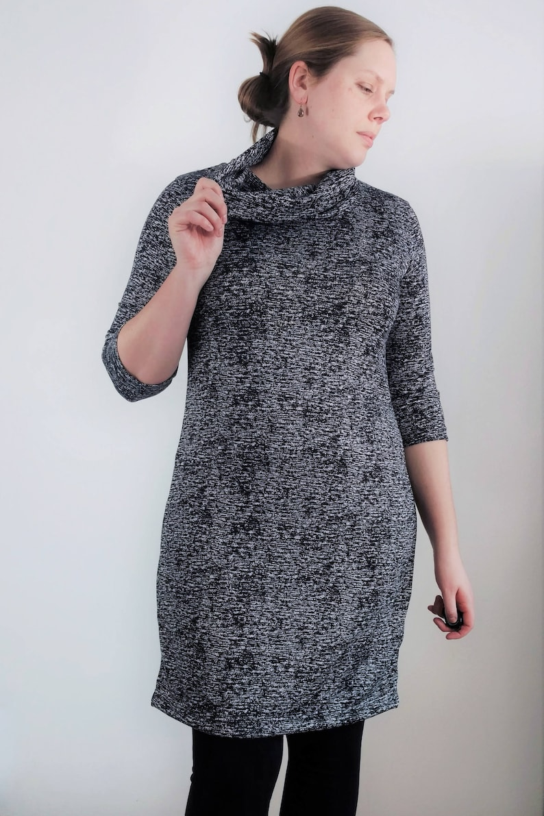 c73ff21f33 Women s extra tall cowl neck sweater dress extra long cowl
