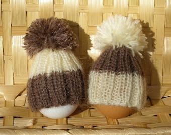 Set of 2 Spring easter egg cozy egg topper knit egg hat egg easter decor knitted egg cosies Spring decorations easter egg cover