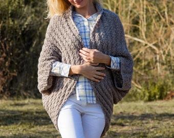 Knit cardigan woman cardigans cocoon cardigan sweater oversize cardigan women sweater beige cardigan beige sweater wool cardigan women brown