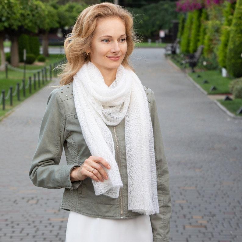 Easy KNITTING PATTERN thin mohair shawl pattern winter ...