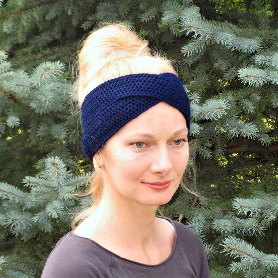 Stirnband stricken Frauen hand Strick Stirnband häkeln | Etsy