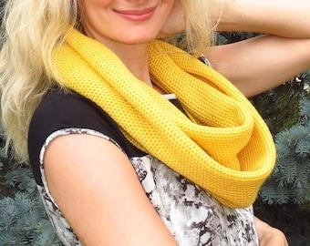 Yellow wool scarf women knit scarf yellow infinity scarf women long scarf knit wool scarf yellow women scarf yellow knit scarf women scarf