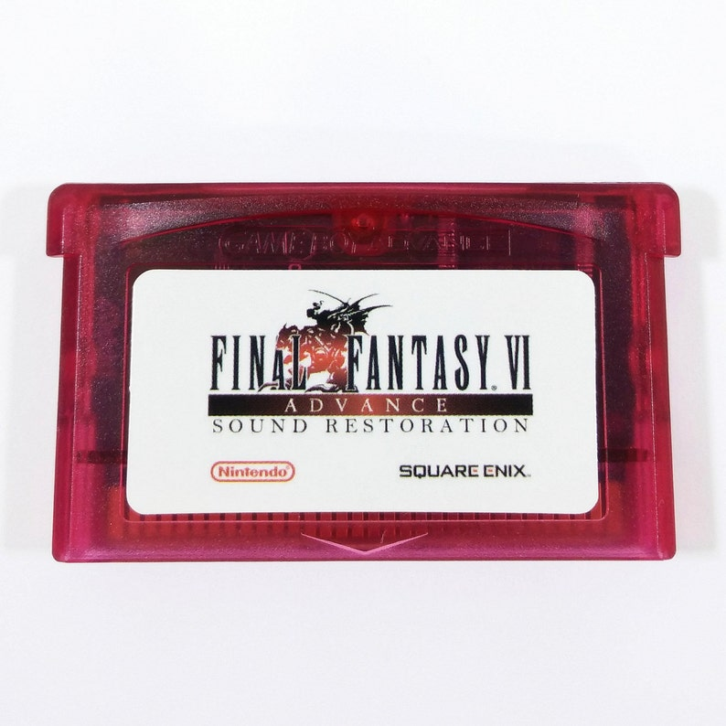 Final Fantasy VI 6 Advance Restored GBA Cartridge SNES Sound and Color  Restoration for Nintendo Gameboy Advance Cart - Free Shipping!