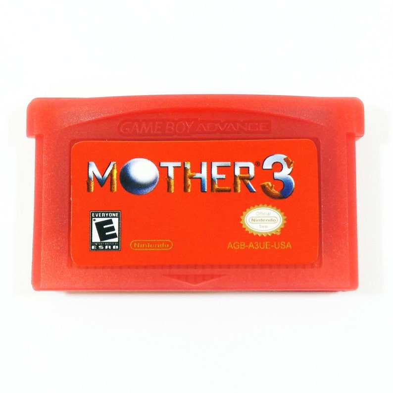 Mother 3 GBA (Earthbound 2) English Red Cartridge Fan Translation 1 2 for  Nintendo Gameboy Advance RPG Customized Cart - Free Shipping!