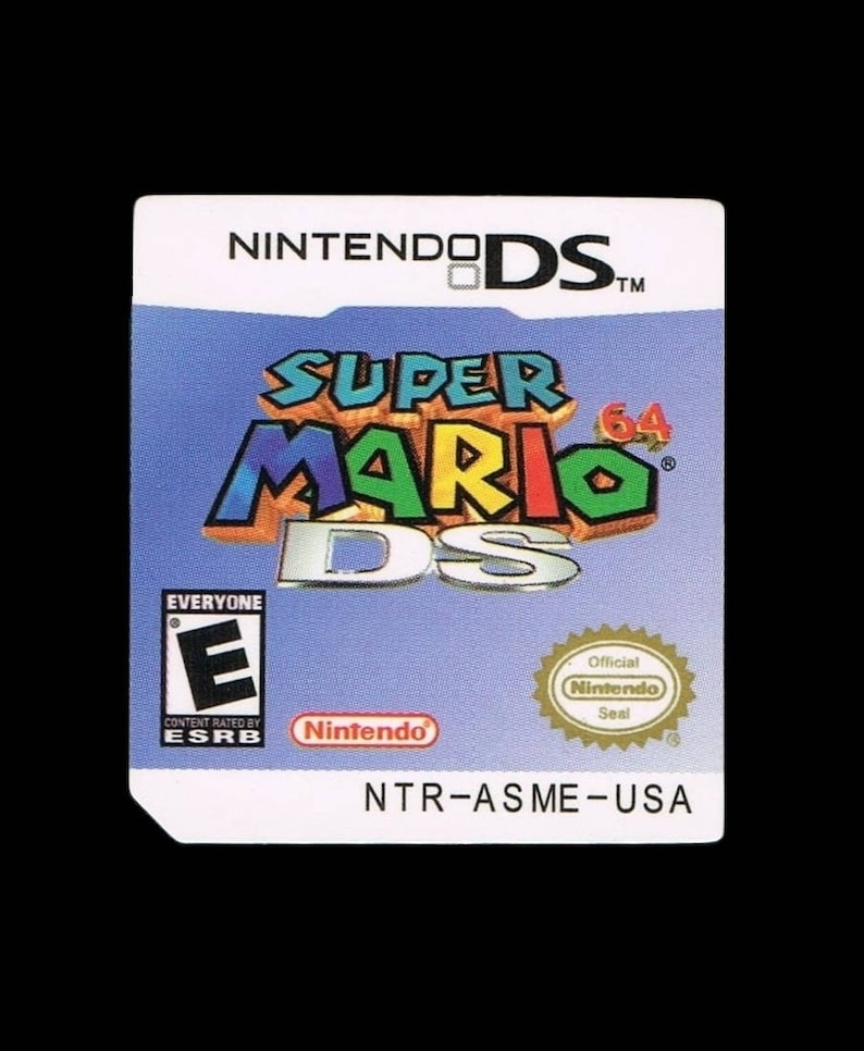 Super Mario 64 DS Label Sticker Replacement for Nintendo DS Cartridge  precut Glossy (no game included, sticker only) - Free Shipping!