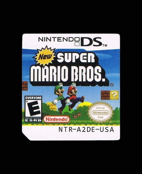 New Super Mario Bros DS Label Sticker Replacement for Nintendo DS Cartridge  precut Glossy (no game included) - Free Shipping!