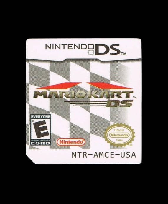 Mario Kart Ds Label Sticker Replacement For Nintendo Ds Cartridge Glossy Precut No Game Included Sticker Only Free Shipping