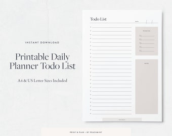 printable to do list printable planner pages printable daily planner printable to do list template instant download task list printable