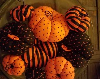 3 sets of Pumpkin Plushies