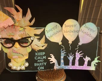 Zombie Birthday Tag