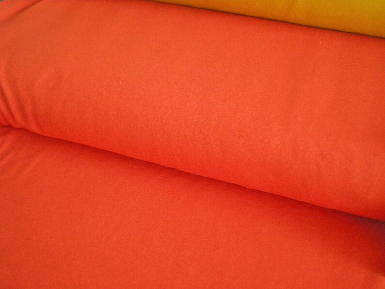 French Terry  Summer sweat uni orange  Autumn colours  50 image 0