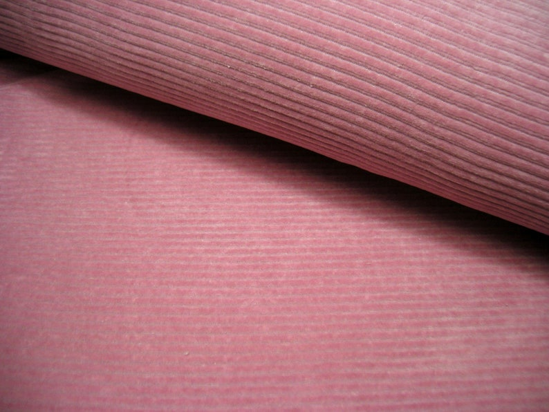 Cord jersey old pink widecord jersey 50 cm x 150 cm image 0
