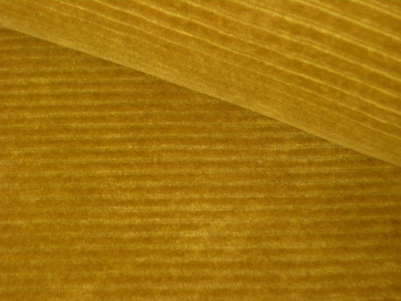 Cord jersey mustard yellow  ochre  widecord jersey 50 cm x image 0