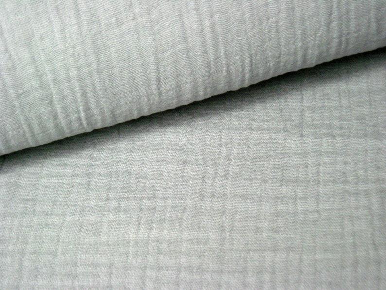 Muslin  Double Gauze Color Light Gray  Mulltuch  Museline image 0