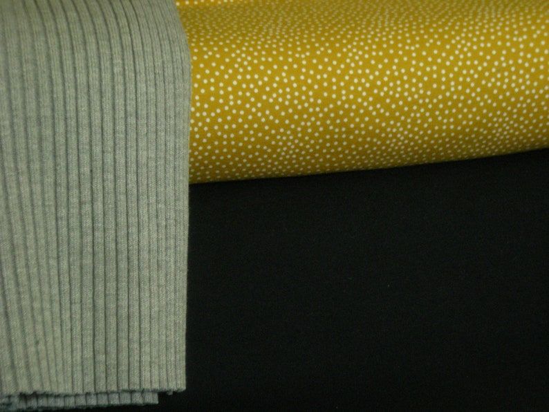 Fabric package French Terry, mustard, blue, dots * sewing package