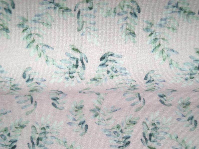 Cotton Jersey Eucalyptus on Pink Bottom Eucalyptus Leaves image 0