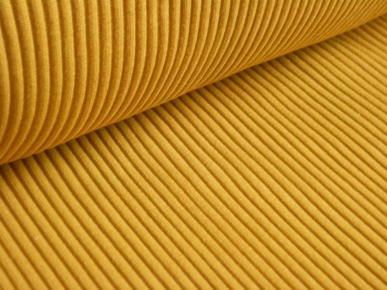 Coarse knit legs 50 cm mustard yellow/ochre  Heavy Rib  image 0