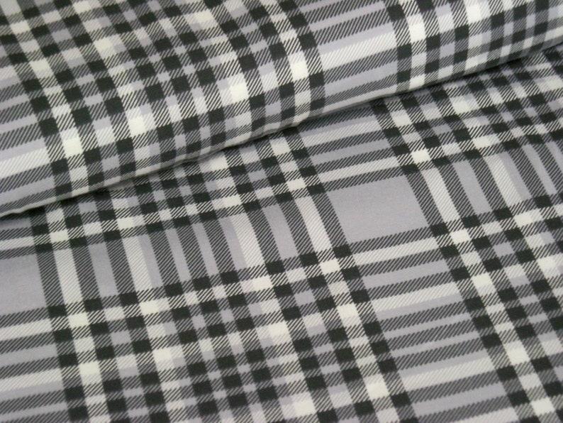 Cotton jersey grey with diamond pattern  tartan pattern  image 0