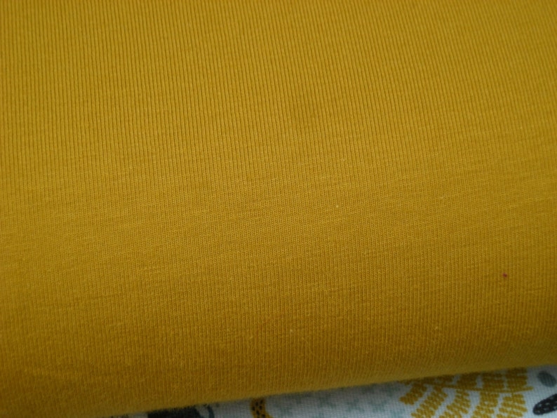 Cotton jersey mustard yellow ochre 50 cm x150cm image 0