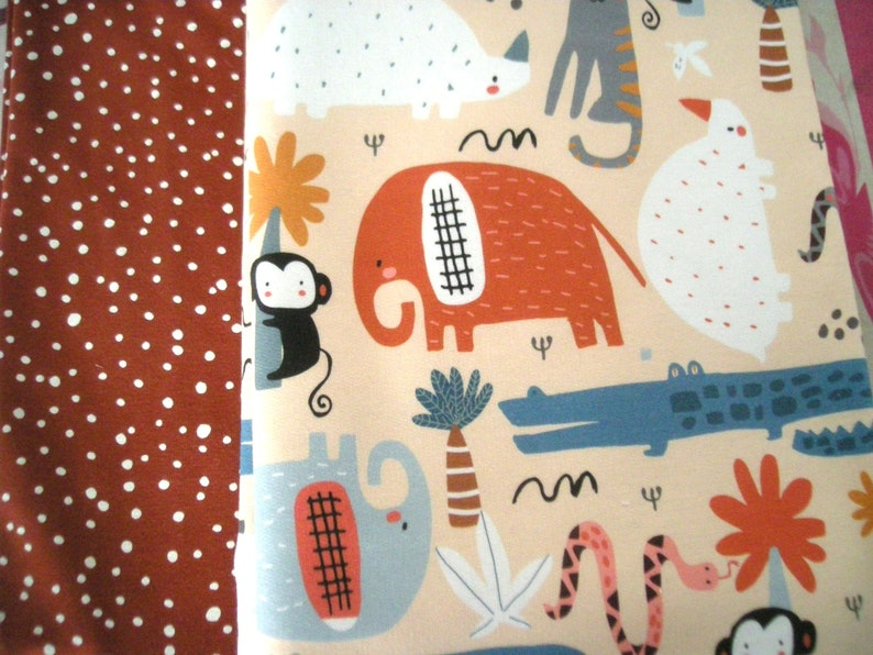 Fabric package French Cute Safari Animals  jersey rustbrew image 0