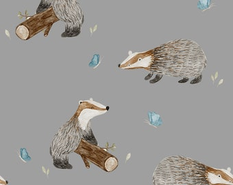 PRE-ORDER In-house production Mr Badger Cotton Jersey 50 cm x 150 cm