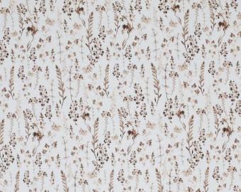 Cotton fabric weaving fabric Dried Flowers * Dried flowers * OekoTex Standard 100 * 50 cm x 150 cm