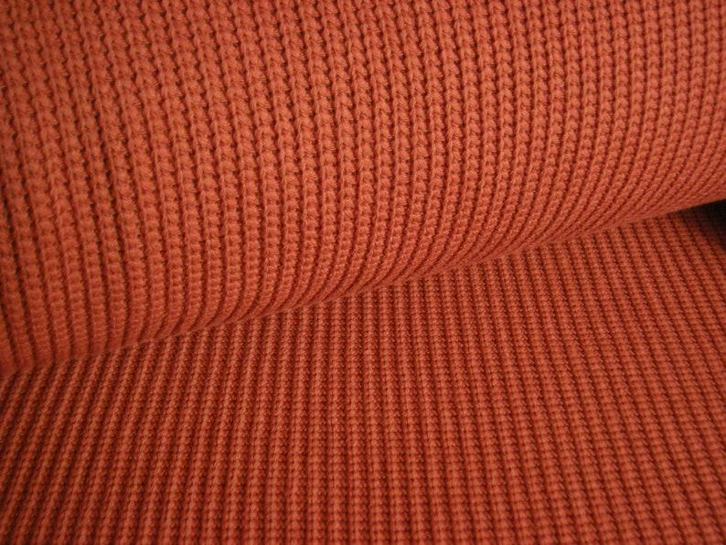 Knitting fabric  cotton chunky  rust rust-brown 50 cm  150 image 0