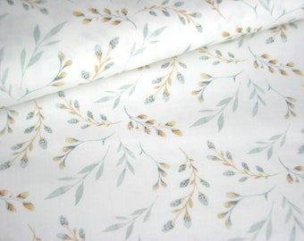 Cotton Fabric Woven Willow Branch Willow Willow - Branches OekoTex Standard 100 50 cm x 150 cm