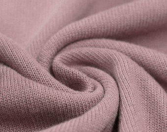 Cotton knit fabric old pink 50 cm x 150 cm