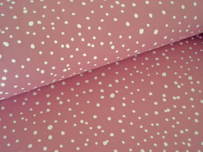 Cotton jersey old pink with dots  jersey old pink with dots  image 0