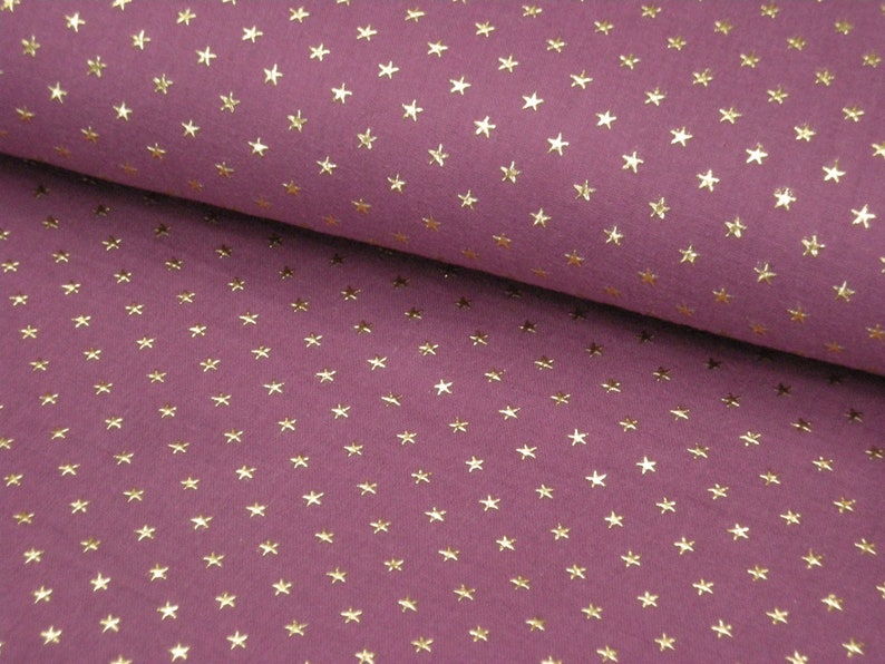 Muslin  Double Gauze color mauve/dark old pink with golden image 0