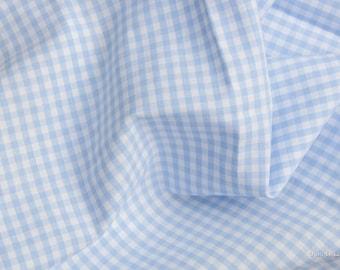 Vichy-karo fabric light blue plaid 3 mm