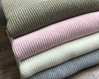 Knit fabric ribbed recycled cotton * recycled cotton