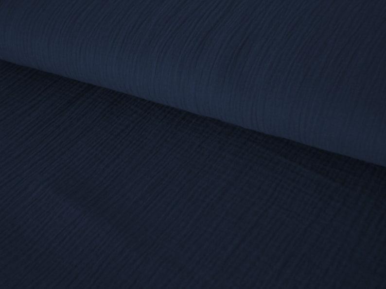 Muslin  Double Gauze dark blue  Mulltuch  Mustline  navy  image 0