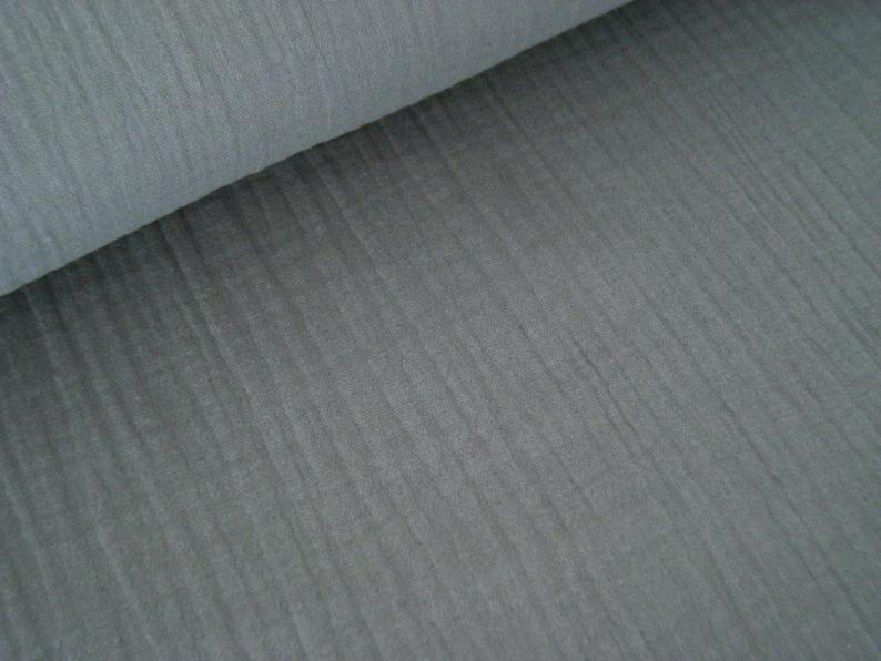 Muslin  Double Gauze Color Grey  Mulltuch  Museline image 0