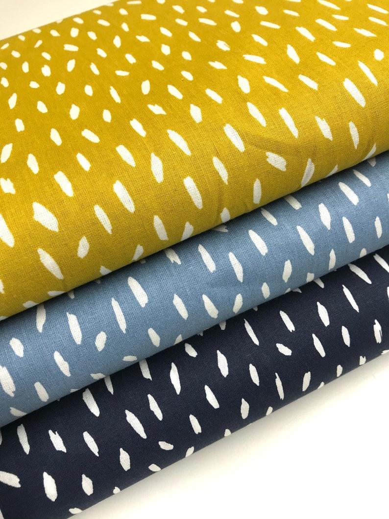 Fabric package blue-yellow 3 fabrics each 50 x 145 cm  image 0