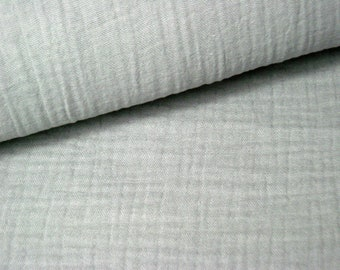 Muslin * Double Gauze Color Light Grey * MullCloth * Museline