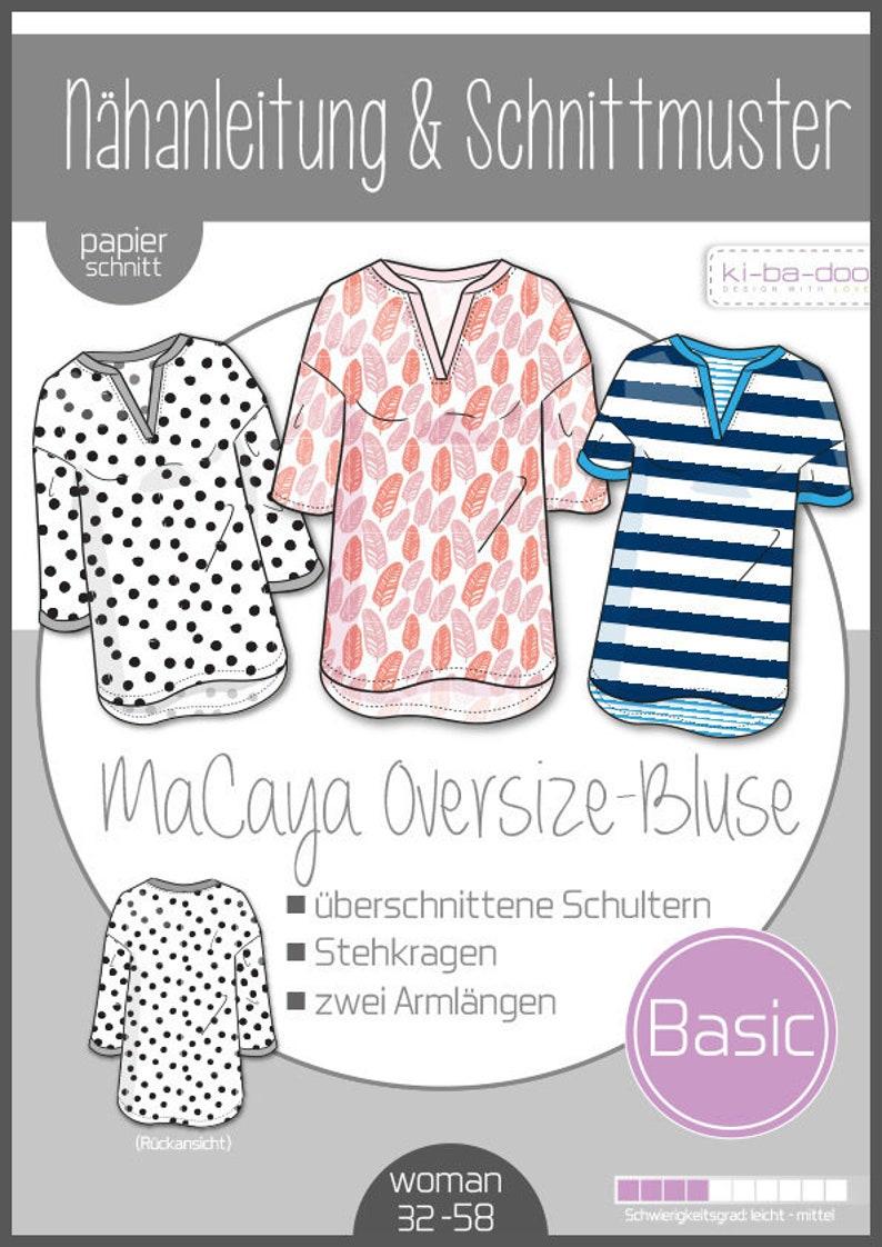 Paper Cut Pattern MAcaya OVersize blouse  Ki-ba-doo  Sewing image 0