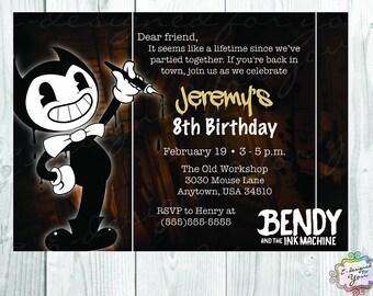 Bendy and the Ink Machine Digital Invitation