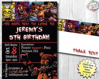 Five Nights at Freddy's - Digital invitation - FNAF