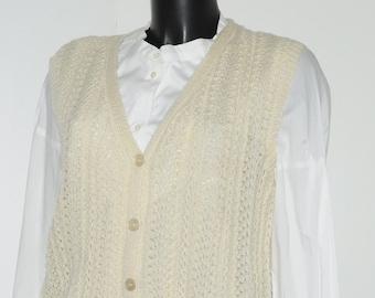 Vintage ivoiry waistcoat Size 38-40 FR