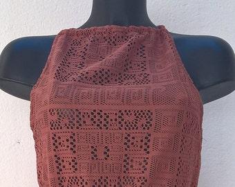 Vintage brown top Size 38-40 FR